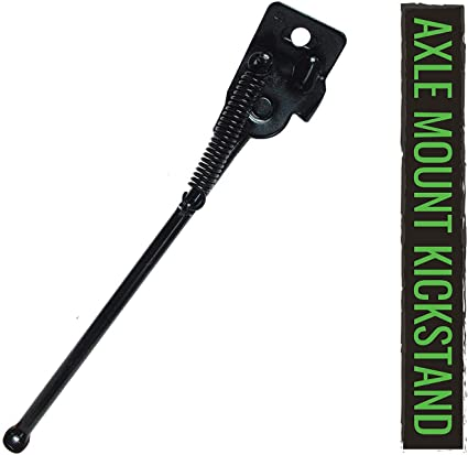 700c Axle Mount Bike Kickstand Steel Bicycle Black Spring Actuated NEW IN PKG