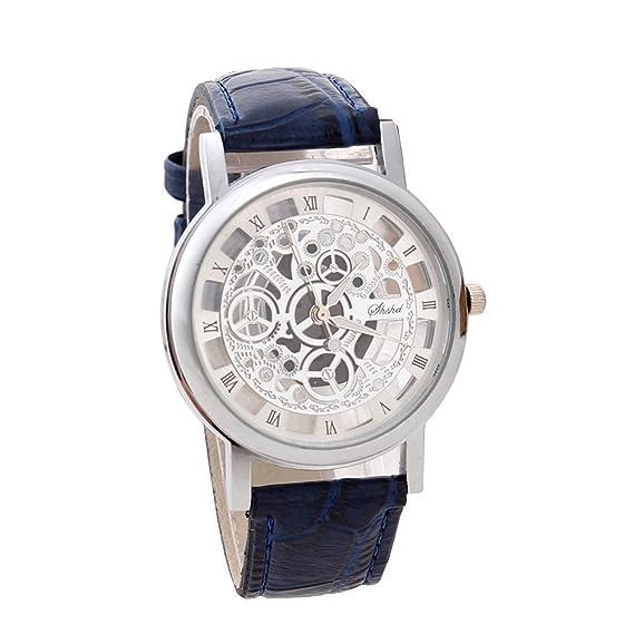 ACE Moda Grabado relojes unisex (de regalo de imitación de reloj mecánico de la banda