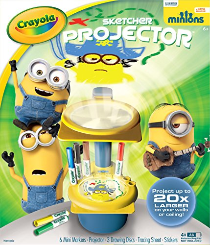 Crayola Minions Sketcher Projector, Toy for Kids, Gift