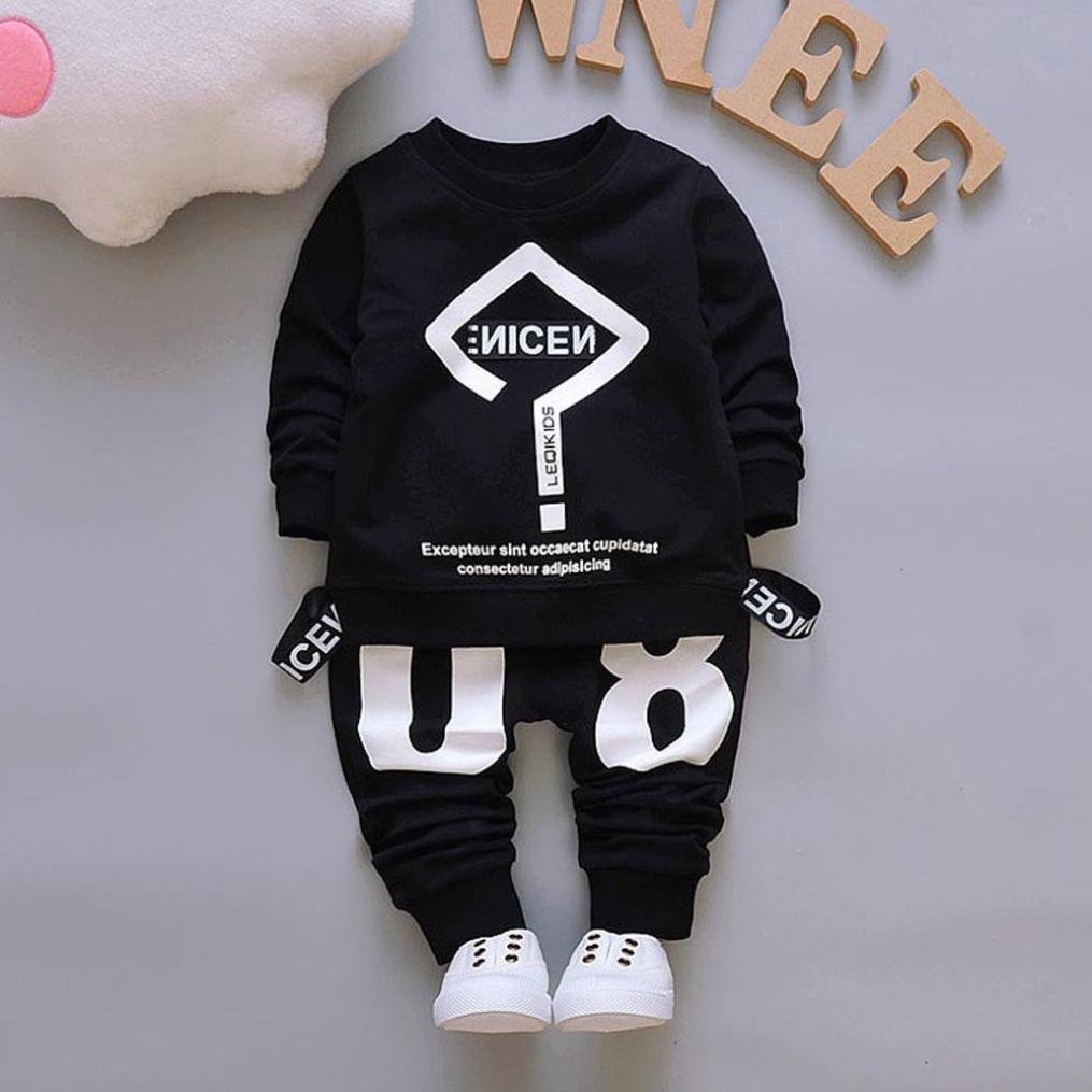 Amazon.com: Shybuy Baby Clothes Set Newborn Kids Baby Boys Girls Letter Print Pattern Long Sleeve Tops +Pants Leggings Outfit Clothes Set: Shoes