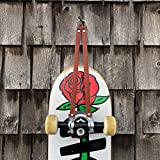 Leather skateboard wall hanger, mount, storage, hook display