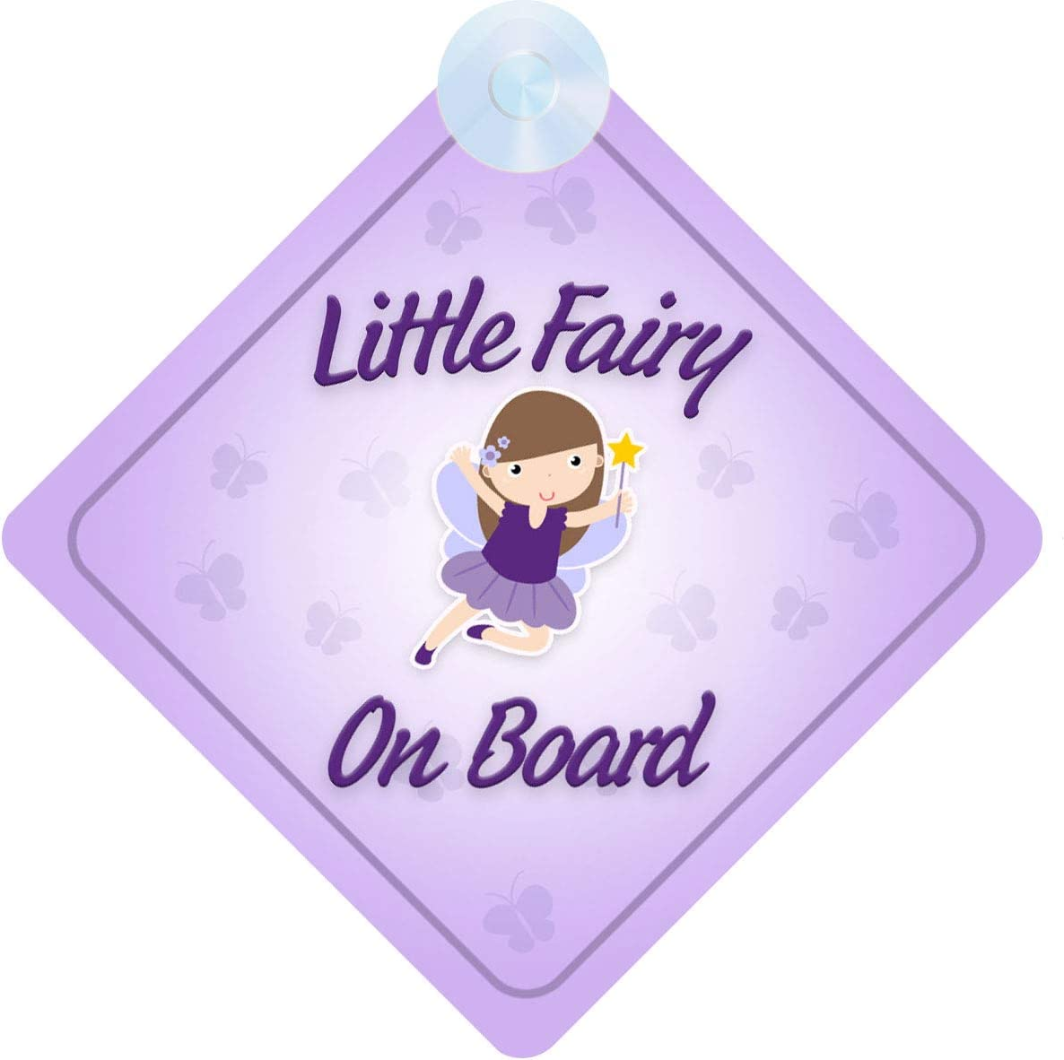 Fairy on Board Car Sign for Children//Baby Girls Non Personalised Character Theme