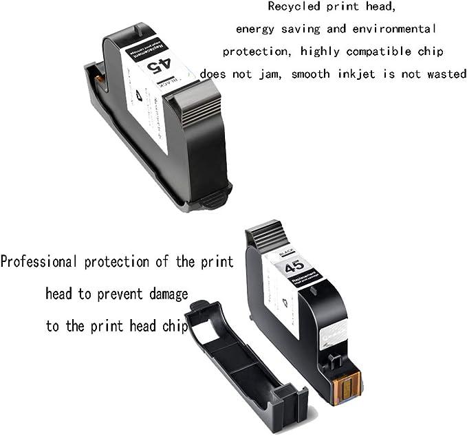 Impresora de escritorio Cartucho de tinta de gran capacidad, para HP 45 Cartucho de tinta CAD Máquina de confección Plotter Impresora de inyección de tinta, para HP 1280 Cartucho de tinta, para