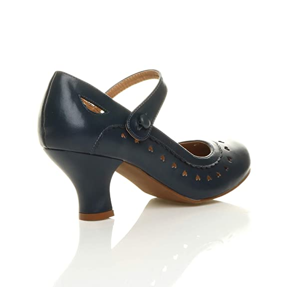 Ajvani - Chaussures Habillées Travestissement Matts Noir 38 (5) Du Royaume-uni VfUYpaz