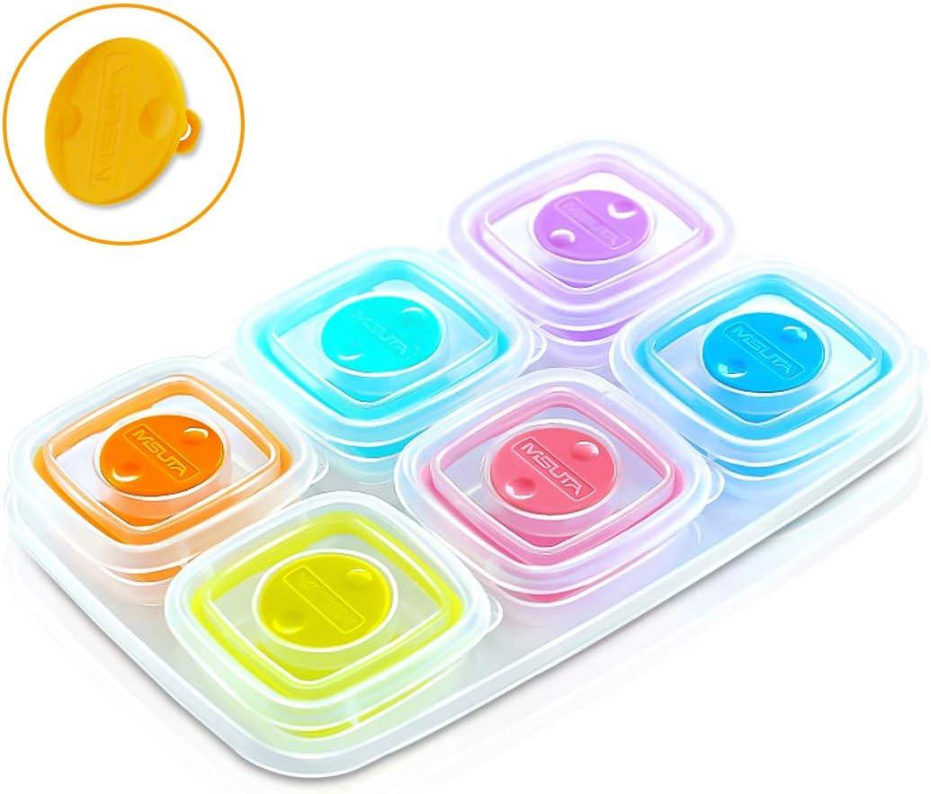 SONARIN Improve Pots de conservation B/éb/é Conteneurs Alimentaires,BPA-Free,/Évent soupape 4 x 120 ml fond souple en TPE,100/% /étanche,Peut /être congel/é et micro-ondes