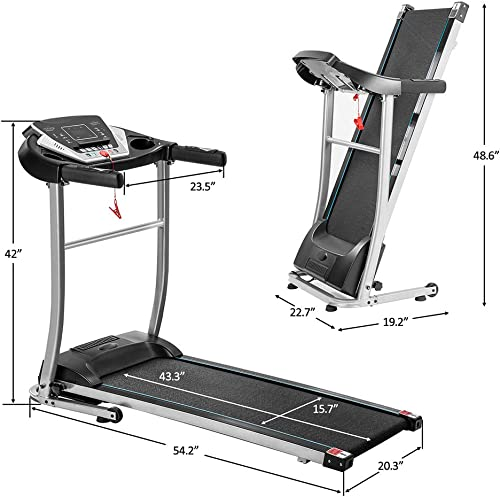 DKLGG Treadmill Running Machine Folding Electric Series Treadmills Fitness Motorized Walking