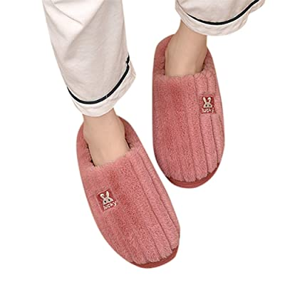 House Slippers for Women Fuzzy,Womens Memory Foam Plush Cozy Winter House Shoes Anti Slip Sole for Indoor & Outdoor Use: Clothing