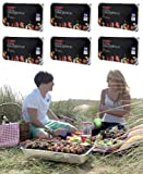 6 X FAMILY SIZE INSTANT DISPOSABLE BBQ- EACH PACK COOKS FOR TEN!