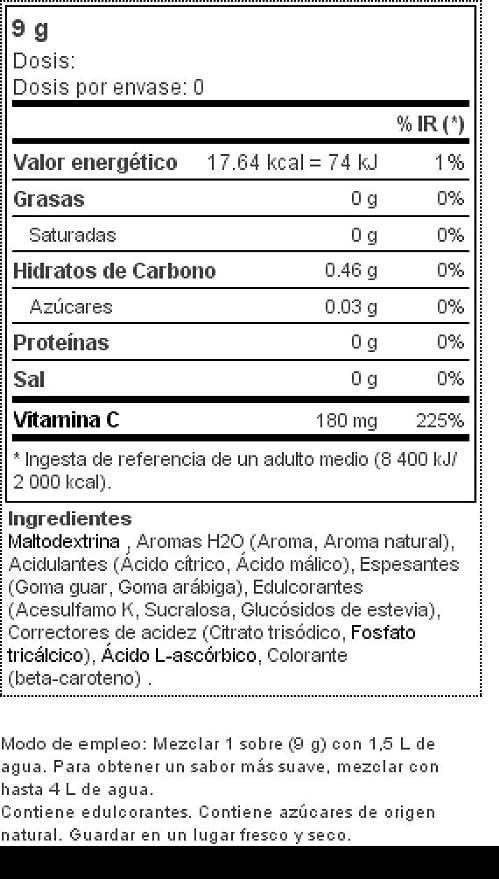 Prozis H2O Infusion 9g - Sobre de Bebida de Melocotón para la Hidratación Corporal - Repleto de Vitamina C - Deliciosa, Saludable y Segura Alternativa al ...