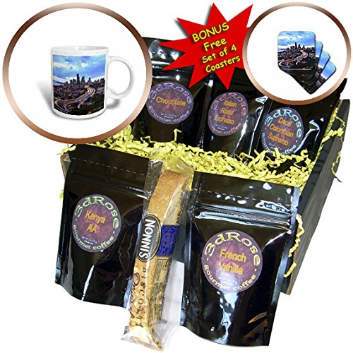 Danita Delimont - Seattle - View from Beacon Hill, Pacific Med Center, Seattle, Washington State - Coffee Gift Baskets - Coffee Gift Basket (cgb_231812_1)