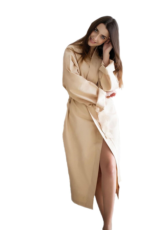 enetal Natural & Rizo Waren Mujer Hombre Mañana Abrigos Tejido de algodón ecológico Albornoz 215 gr/m² Gots Sauna Abrigo, algodón, Beige, Large/Extra-Large: ...