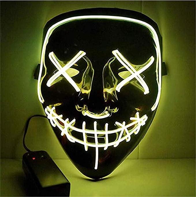 Image ofKaliwa LED Máscaras Halloween, Halloween Mascaras, Craneo Esqueleto Mascaras, para Navidad /Halloween /Cosplay /Grimace Festival /Fiesta Show /Mascarada, Alimentado por batería (no Incluido)