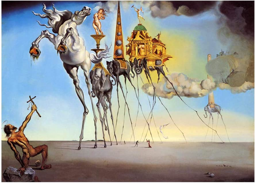 Generic Salvador Dali The temptation Of Saint Anthony Poster Wall Decor 24x36 Inches Art Print Photo Paper Material Unframed