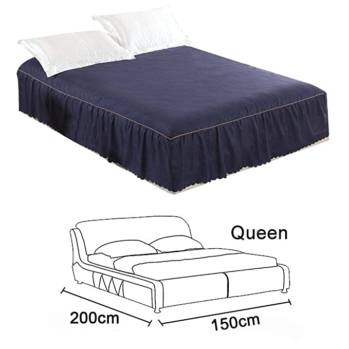 Molie Bed Skirt Mattress Pad with Fitted Skirt Wrap Around ...
