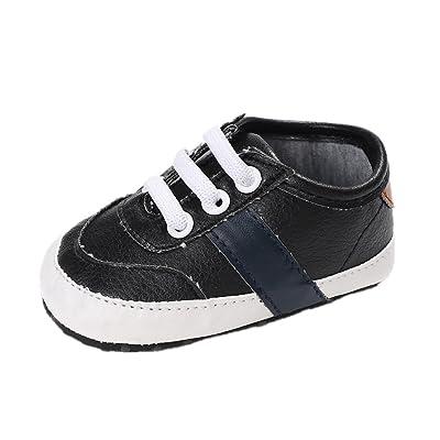 62cc0eae2ba72 Chaussures de bébé Auxma Chaussures bébé garçon à semelle souple  anti-dérapante Chaussures enfant en