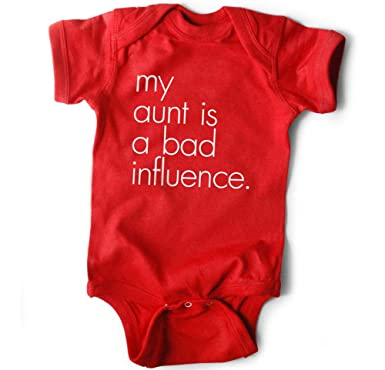 98a7b5a4ac35b WRYBABY Funny Baby Bodysuit | My Aunt is a Bad Influence