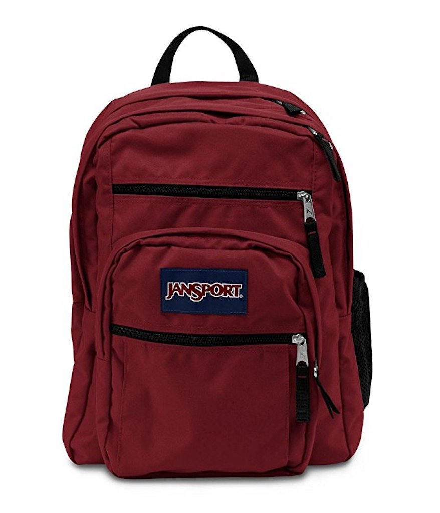 JanSport Big Student Reddish Brown Backpack (Viking Red, Burgundy) -