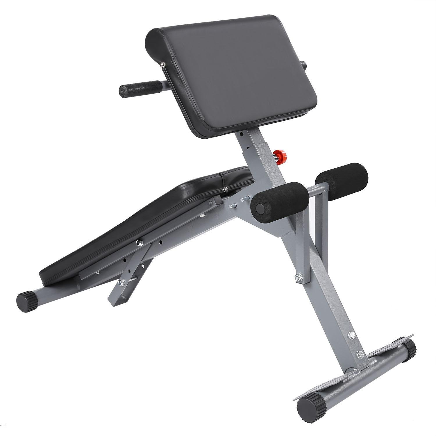 (US Stock) Pro Ab/Hyper Exercise Bench Roman Chair, Adjustable Fitness Multi-function Core Strength Bench