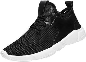 Zapatos de hombre zapatillas deportes hombre running Zapatos masculinos Casual Zapatos de camuflaje Zapatillas de Senderismo Deportivas Aire Zapatos para Correr hombres (Negro, EU43 /CN 44): Amazon.es: Iluminación