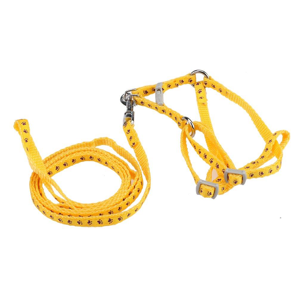 Andux Zone Tirare Cablaggio del Cane Collare di Cane e Guinzaglio del Cane un Set Regolabile 13-GS-001-03 (marrone)