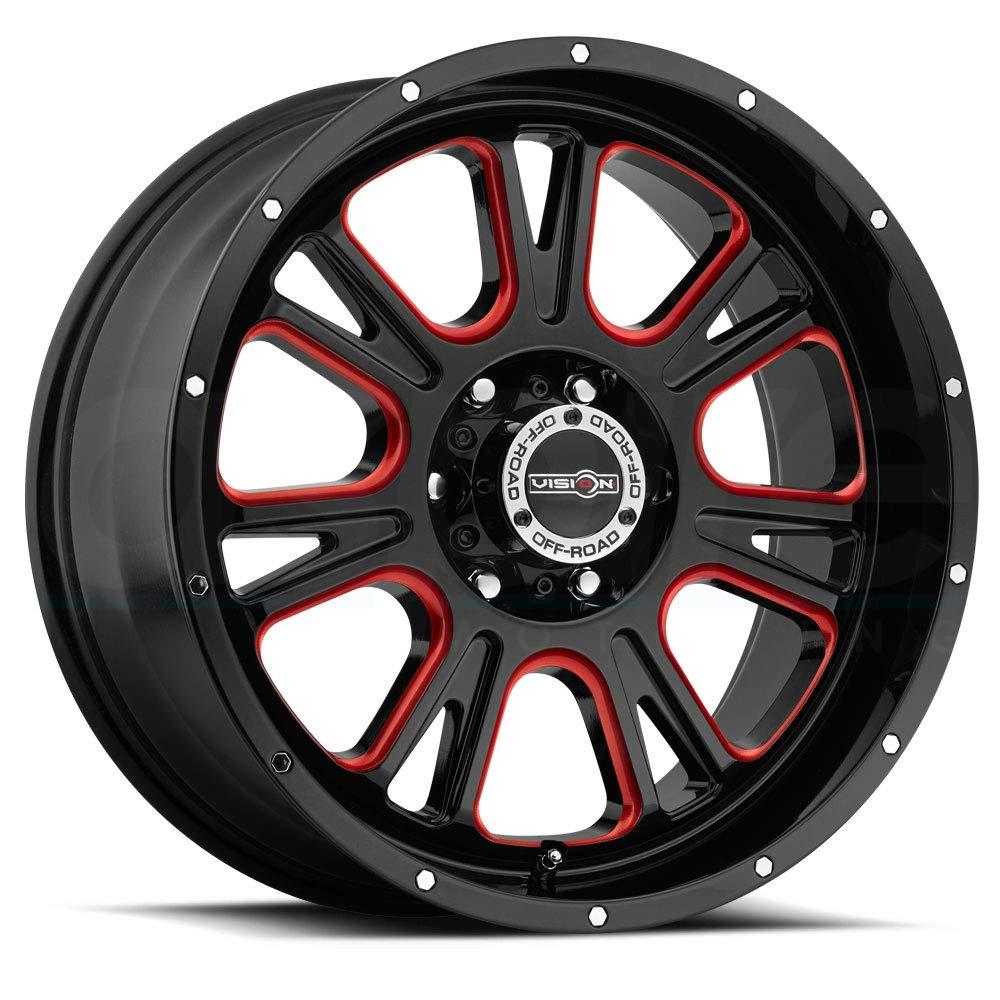 Vision 399 Fury 17x8.5 5x5'' +0mm Black/Milled/Red Wheel Rim 17'' Inch