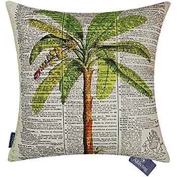 Amazon.com: Palma de coco árbol Cojín con diseño impreso ...