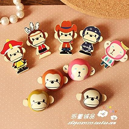 Amazon.com: Cute cartoon boy emperor wooden wind badge ...