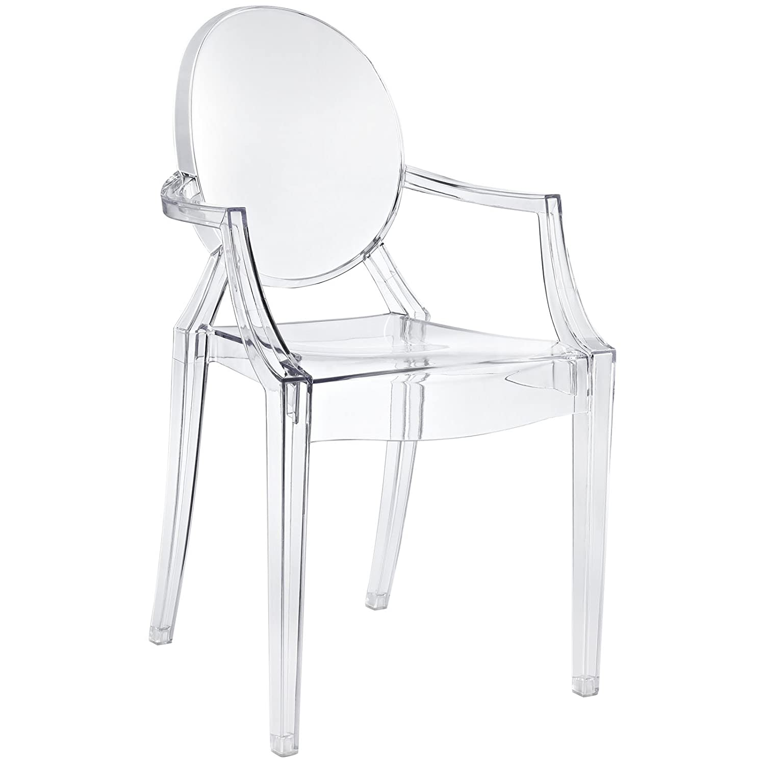 Amazon Modway Casper Modern Acrylic Dining Armchair in Clear