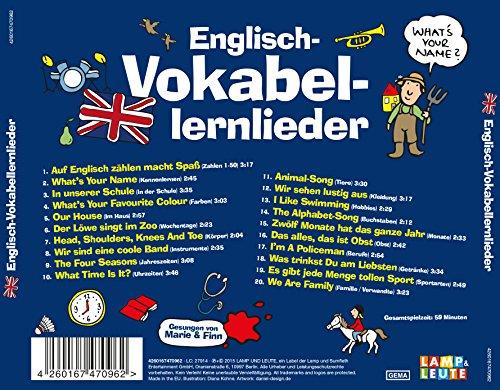 Englisch-Vokabellernlieder (mit Marie Wegener) - Marie & Finn ...