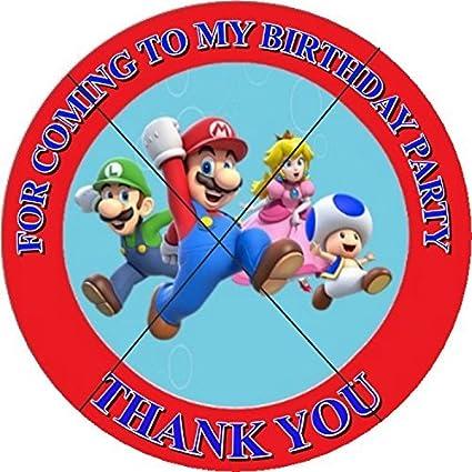 Amazon.com: 12 Super Mario Rojo Fiesta de cumpleaños Favor ...