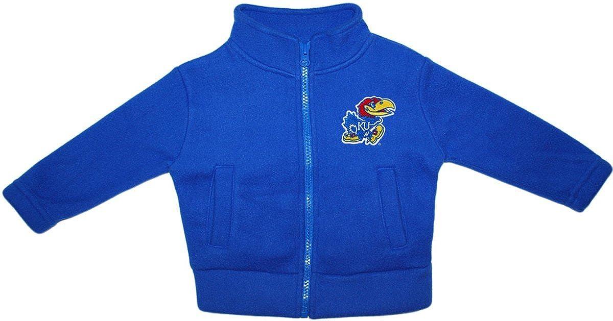 University of Kansas Jay Hawks Newborn Infant Baby Polar Fleece Jacket