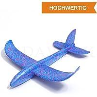 ZADAWERK® Styroporflieger - 35 cm - Blau - Outdoor-Spielzeug - Kinder-Geburtstag