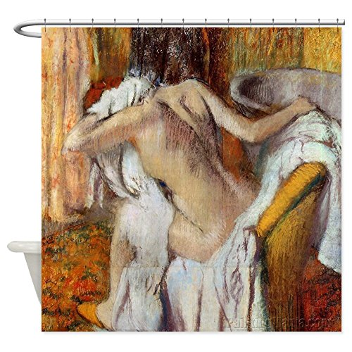 - CafePress Edgar Degas After The Bath Shower Curtain Decorative Fabric Shower Curtain (69