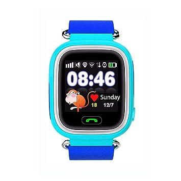 Jslai Reloj Localizador GPS Niños Reloj Rastreador Pantalla Táctil Smartwatch para Niños con SOS Reloj Despertador Anti-perdida GPS Kid Tracker Reloj ...