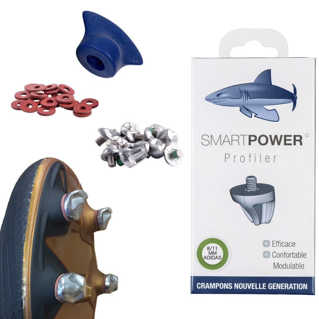 SMART POWER 12 Crampons Haute Performance de Football et Rugby Aluminium 8/11...