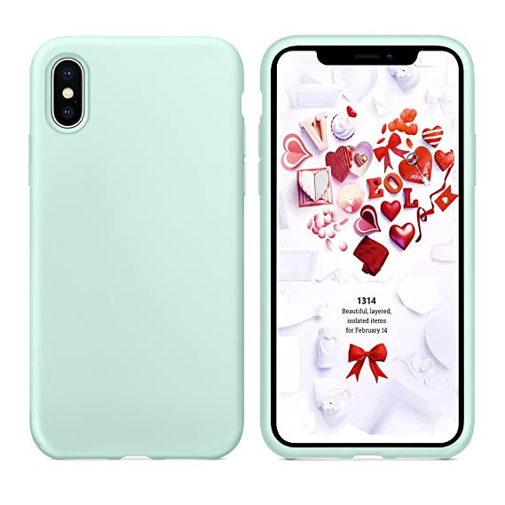designer fashion 20c9f 89ca0 Humixx iPhone X Soft Case Shockproof Support Wireless Charging Microfiber  Lining Anti Scratches iPhone X Silicone Case Full Edge Better Cushion  Design ...