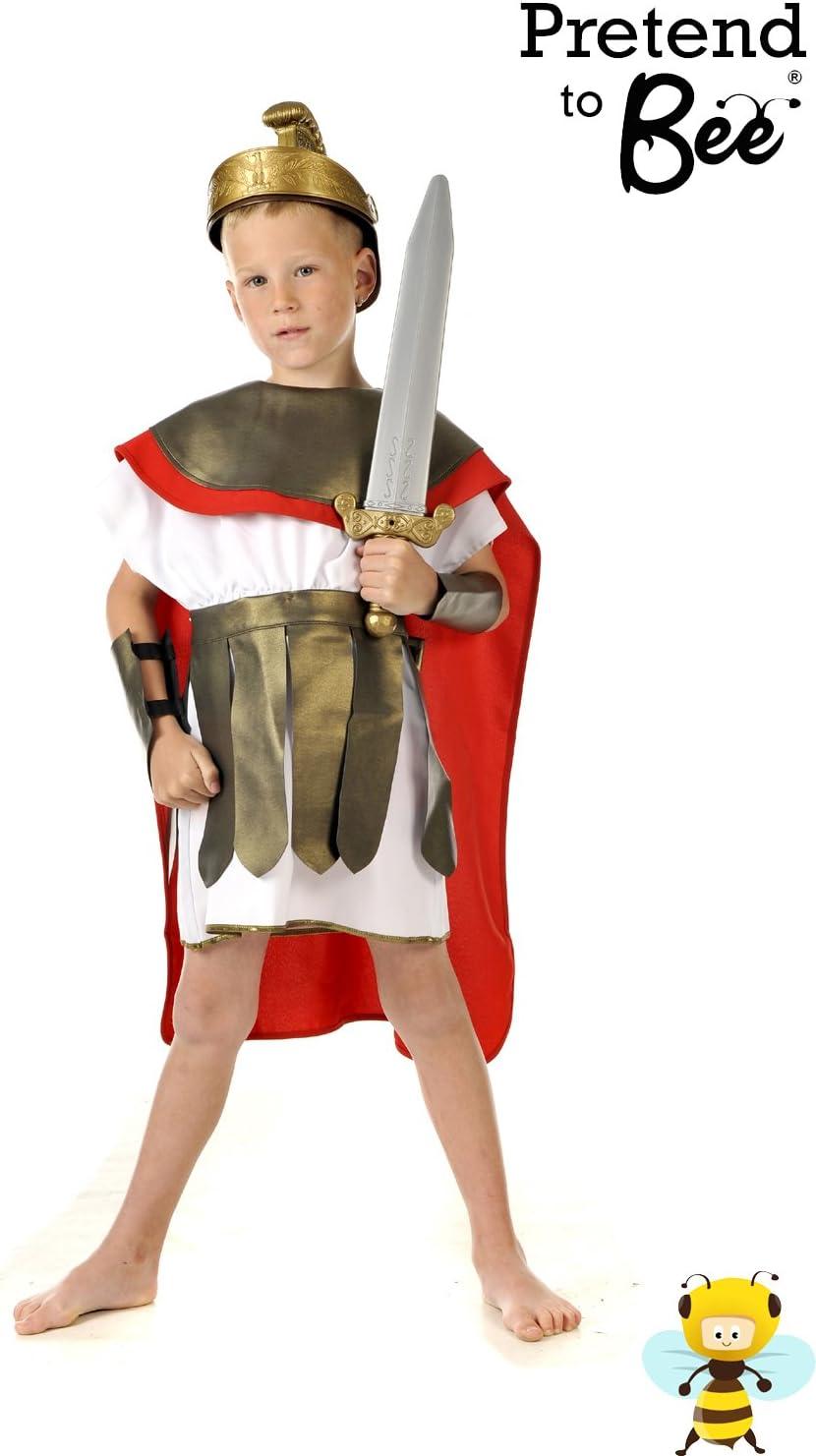 Boys Toys - Disfraz de gladiador romano para niño, talla 5-7 años ...