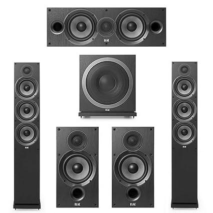 Elac Debut 20 51 System With 2 F62 Floorstanding Speakers 1 C6