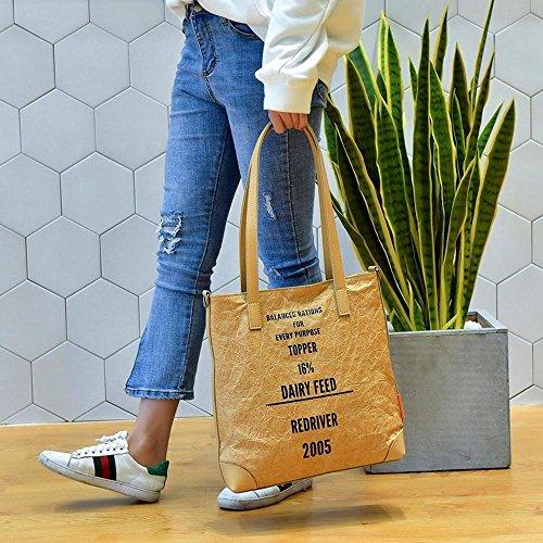 Aoligei Simple portable unique épaule diagonal cross féminin paquet voyage voyant DuPont du papier A