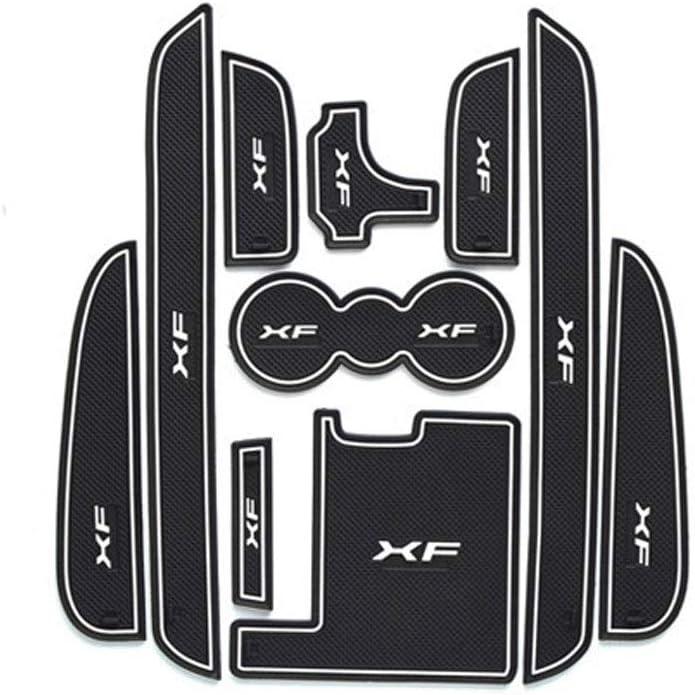YYD Car Non-Slip Interior Door cup cushion Mat stickers 2011-2015 Jaguar XF Accessories,Luminous