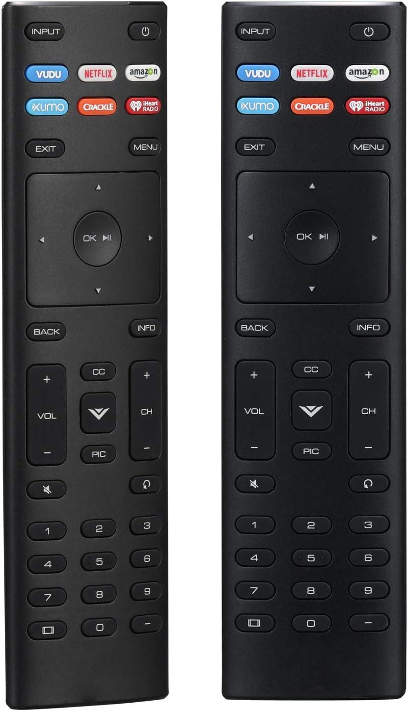 New XRT136 Universal Remote Control Compatible with VIZIO Smart TV D24F-F1 D32FF1 D43F-F1 E55U-D0 E55UD2 E55-D0 E55E1 M65-D0 M65E0 P65-E1 P75C1 P75E1 M70-E3 M75E1