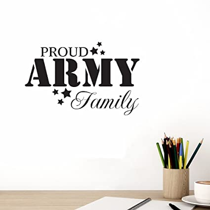 Amazon Com Ttuiy Wall Art Stickers Quotes And Sayings Proud Army