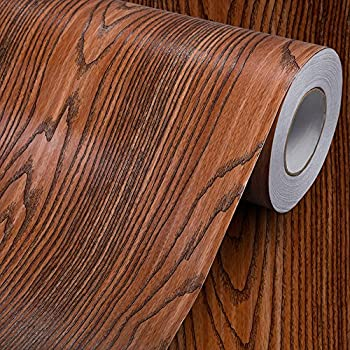 Awesome Wood Grain Contact Paper Self Adhesive Vinyl Shelf Liner Covering For Kitchen Countertop Cabinets Drawer Furniture Wall Decal 23 4Wx117L Rosewood Interior Design Ideas Clesiryabchikinfo