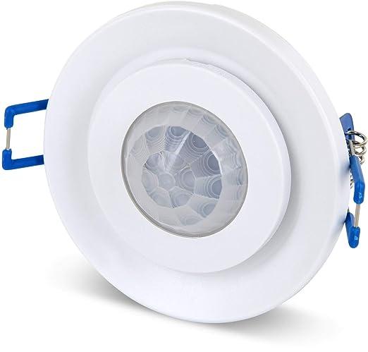 Empotrable IR Detector de movimiento 360 ° orientable - - LED empotrable techo Adecuado - 1 W hasta 800 W 230 V: Amazon.es: Bricolaje y herramientas