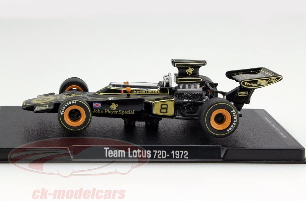 Fittipaldi 1//43 Voiture F1 miniature GL04 Formule 1 Team Lotus 72D 1972 E