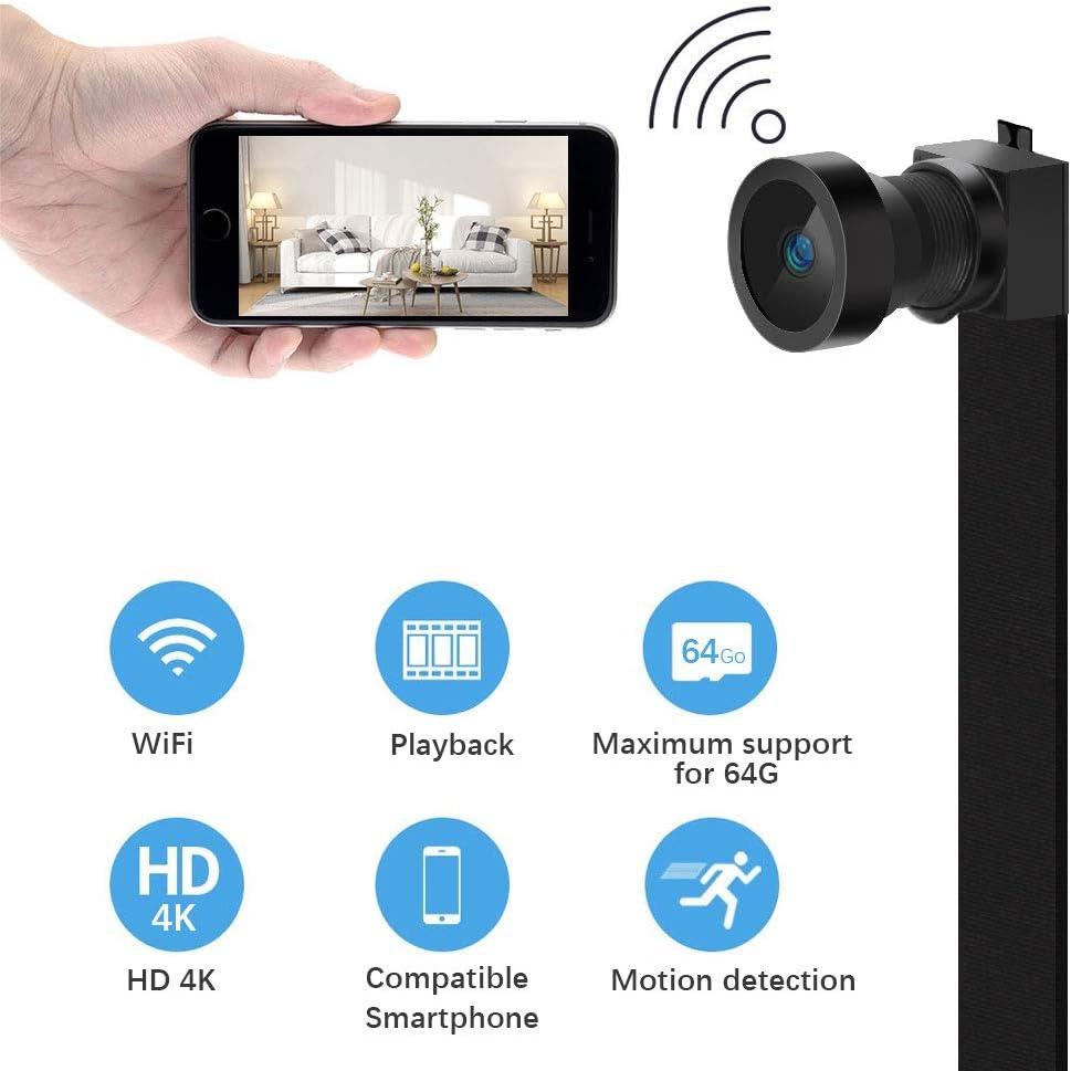 Mini cámara espía WiFi Hidden Spy 【HD 4K】con batería integrada ...