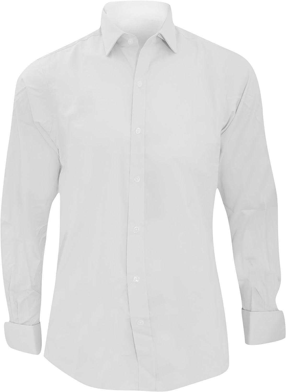 Brook Taverner - Camisa Entallada de Manga Larga 100% algodón con puño Doble Modelo Chelford - Trabajo/Fiesta/Verano: Amazon.es: Ropa y accesorios