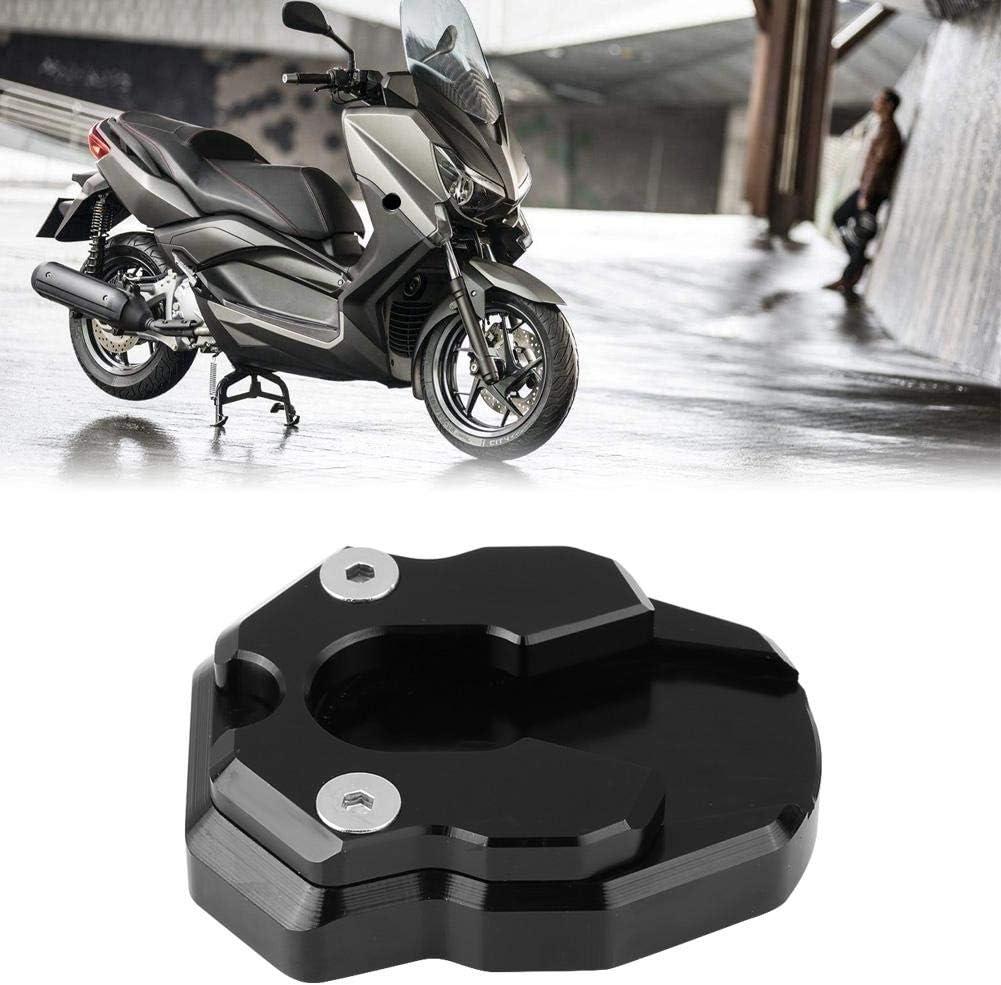 Motorrad Anti-Rutsch-Seitenst/änder Vergr/ö/ßerungsplatte f/ür Nmax155 XMAX 300 Schwarz Seitenst/änder Pad