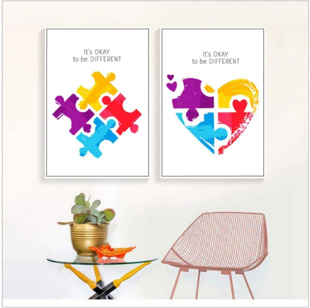 Poster no Framed Autism Awareness In This House We Do Canvas With Framed