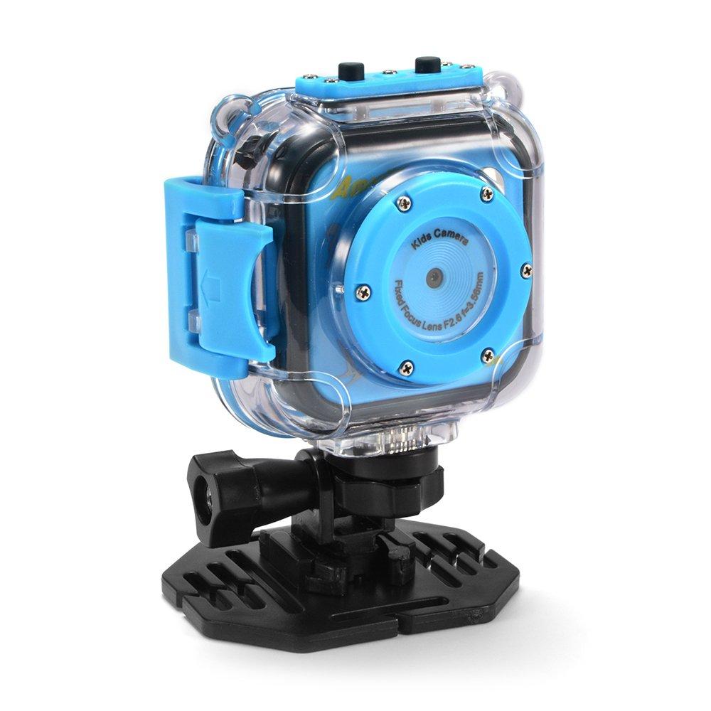 Amkov Kids Action Camera, Waterproof Mini Sports Camera HD Camcorder for Children Outdoor Adventure, Birthday Christmas Gift Kreema ULD-LF844